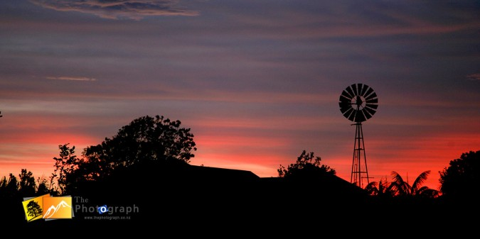 Australian sunset at Alstonville