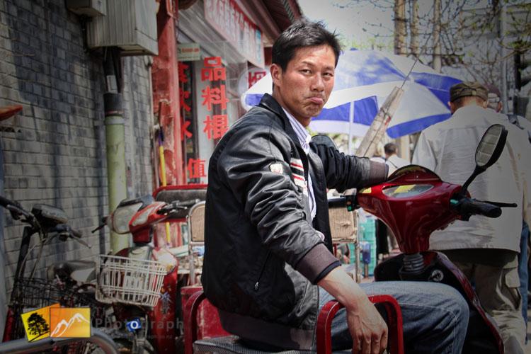 Chinese motorbike rider