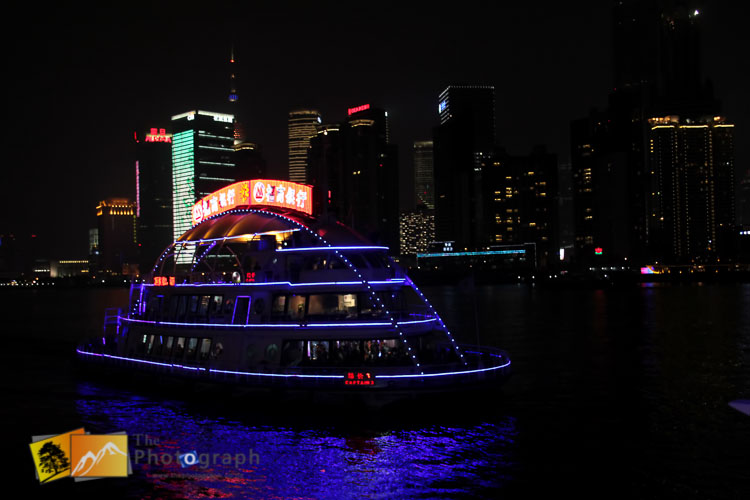 Shanghai river cruise by night