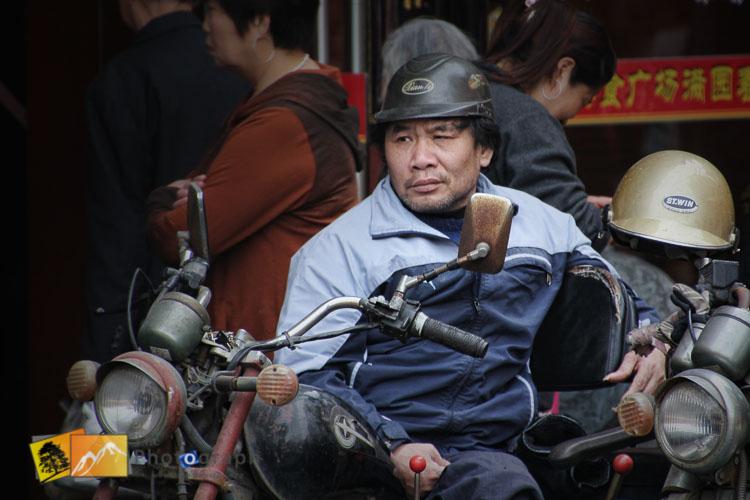 Motorbiker at Yuan Bazaar