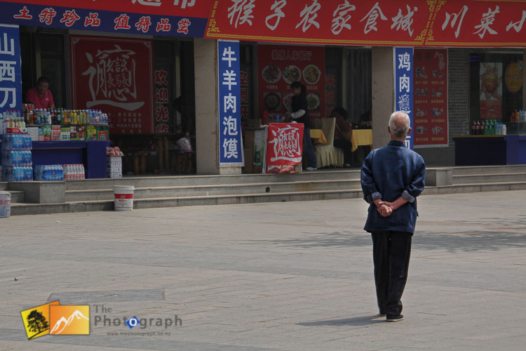 old man in chinese market