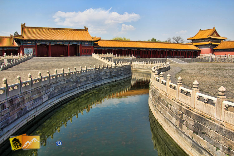 Water channel at the Imperial forbidden city