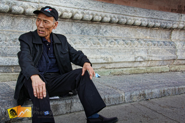 Old man at the Imperial forbidden city