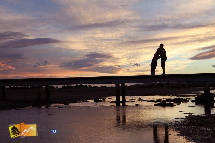 Low tide sunset, Napier bridge.