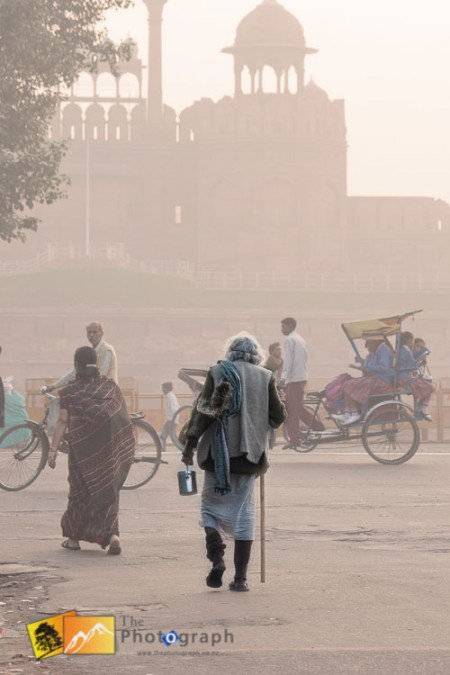 outside the red fort