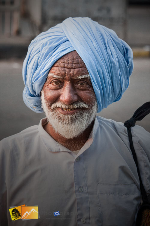 character on the street near red fort