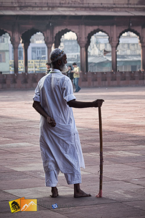 Ticket man for foreign visitors at Jama Masjid Mosque