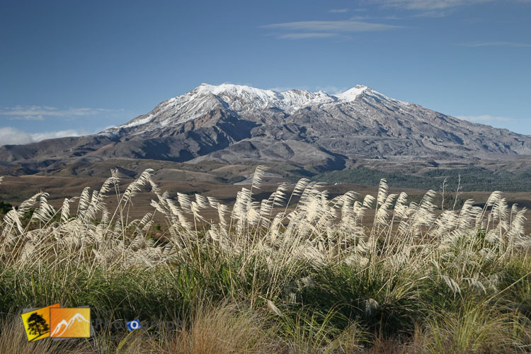 Mount Ruapehu with dusting of snow.