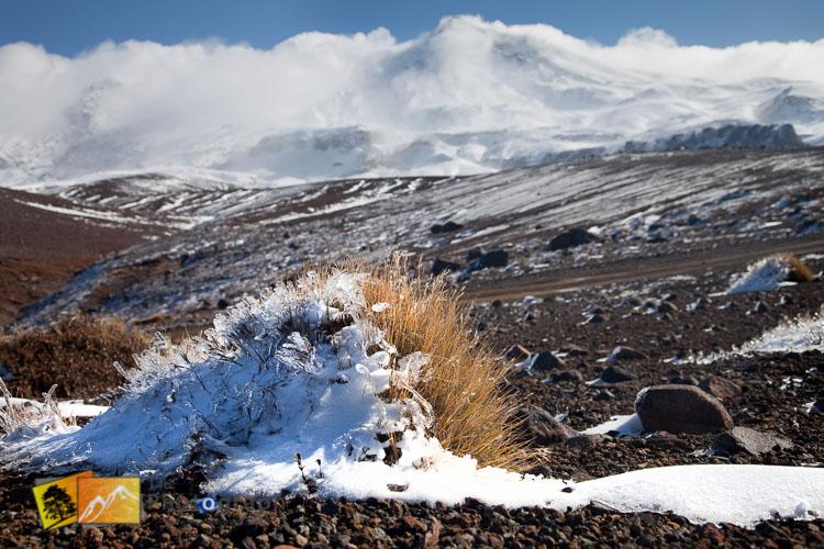 Mountain snow landscape image.