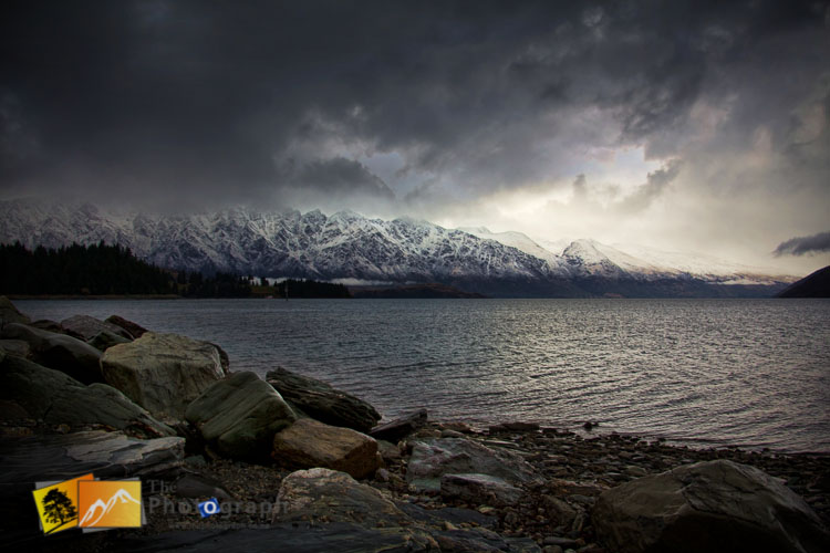 Winter on Lake Wakatipu Queenstown.