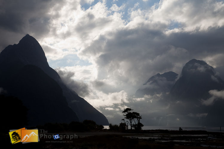 Cloudy day at Milford Sounds.