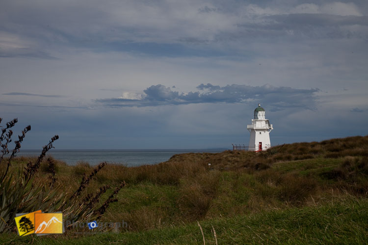Lighthouse at Waipapa Point.
