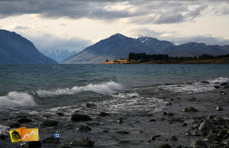 The weather turns at lake Pukaki.