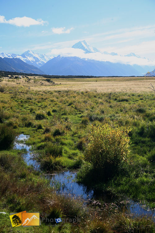 On the road to mount Cook.