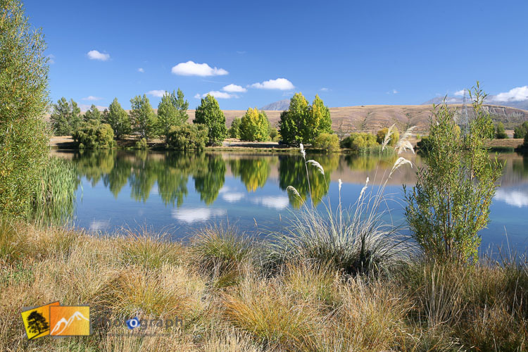 Still day reflections in Twizel lake.