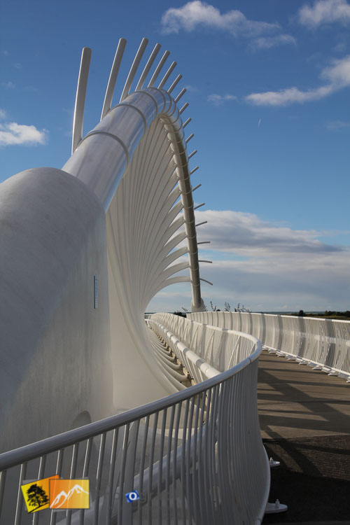 Interesting architecture of New Plymouth bridge.