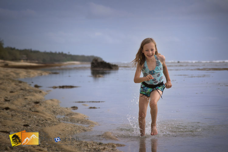 fun running on the beach in Tonga