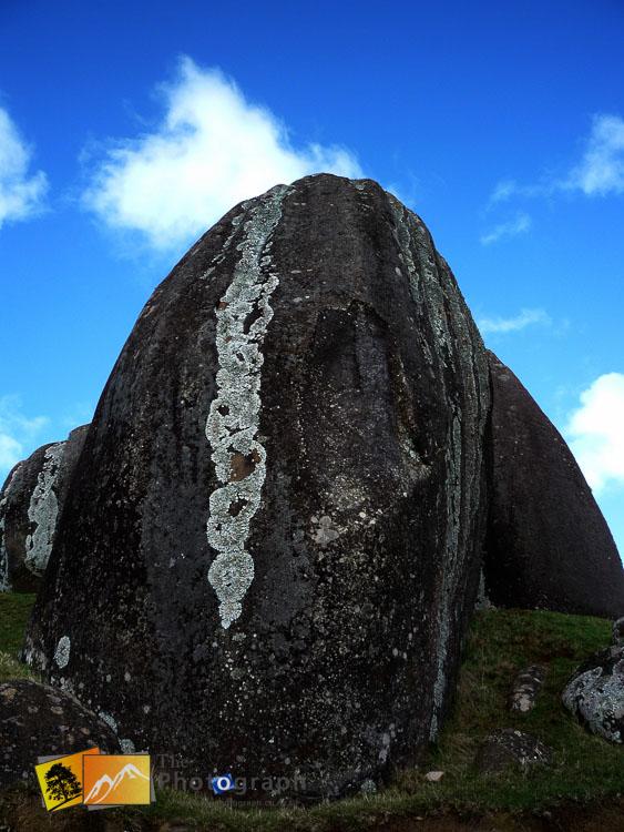 Rocks at stony batter.