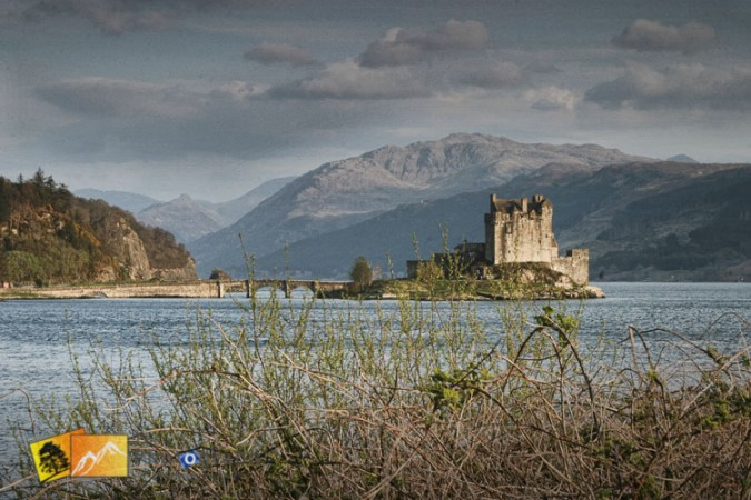 Eilean Donan Castle across the lake