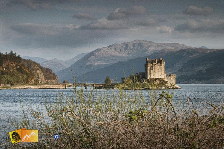 Eilean Donan Castle across the lake